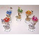 Цветок (стебель пружина с бабочкой) металл/пласт 10см. в ассортименте