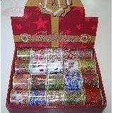 Лента праздничная с проволокой д/оформления подарков ширина 4.5см 10видов (1уп-24шт)1шт