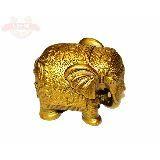 Слон золотистый 10*9см