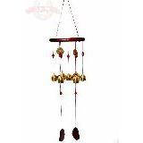 Музыка ветра 7 колокольчиков дерево металл l=67см