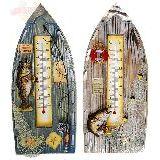 Термометр настенный ввиде лодки Рыбалка (дерево) 31*13.5см