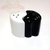 Н-р д/соли и перца black/white Сердечки в/к 6.6*4.5см