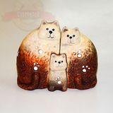 Кошки керамика семья (art  модуль) 12*11см
