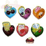 Магнит Сердце пироженое ароматизир. с приколами 7.5*6.5*5см (1уп-12шт) 1шт