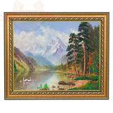 Картина Утренняя прогулка багет (24х30 см)