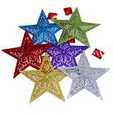 Звезда блестящая декор. 25*25см (6 цветов)