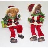 Мишка новогодний с висячими ногами 20см (1уп-2шт)1шт