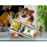 Копилка керамическая Тигр с деньгами Зарплаты царской 21*14 см